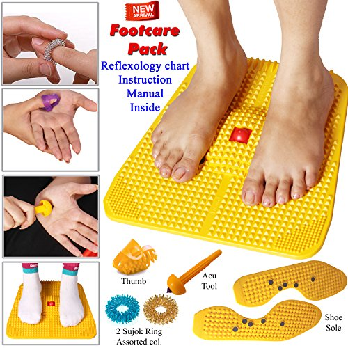 Acupressure Power Mat with Magnets n Pyramids for Pain Relief Useful for Heel Pain - Knee Pain - Leg Pain - Sciatica - Cramps - Migraine - Depression With Acupressure Health Care Products - Foot Care