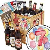 7. Geburtstagsgeschenk | Bier Geschenk | mit Bieren aus Ostdeutschland