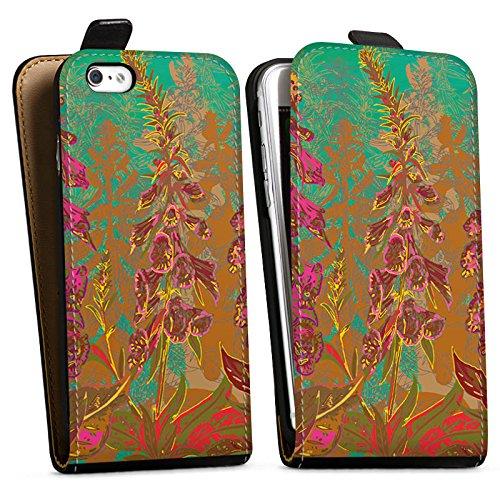 Apple iPhone X Silikon Hülle Case Schutzhülle Blumen Muster Art Downflip Tasche schwarz