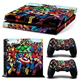 Consoles Ps4 Best Deals - GNG PS4 Console Marvel Skin Decal Vinal Sticker + 2 Controller Skins Set
