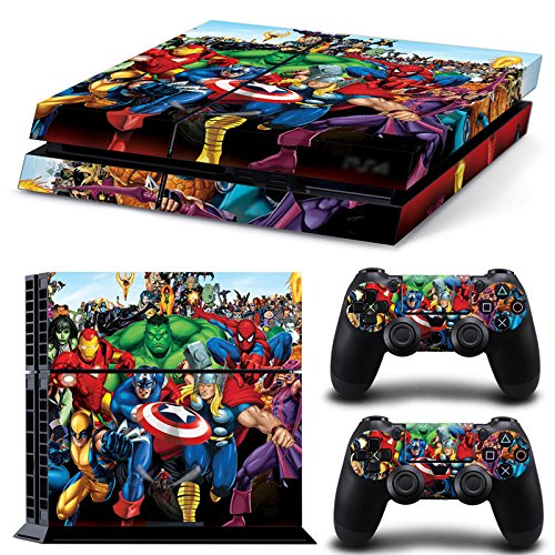 gng-ps4-console-marvel-skin-decal-vinal-sticker-2-controller-skins-set