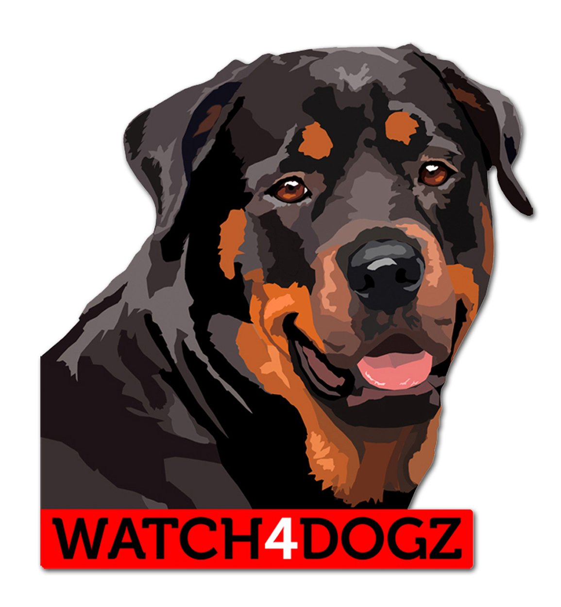 Rottweiler Decal Sticker 10 x 11.5 cm Pack of 2