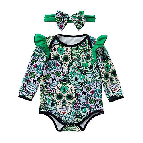SEWORLD Baby Halloween Kleidung,Niedlich Neugeborenes Baby Mädchen Langarm -