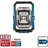 System profesjonalny 18 V firmy Bosch: akumulatorowa lampa budowlana GLI 18V-1900 (maks. jasność 1 900 lm, bez akumulatorów i