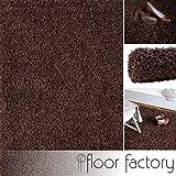 Alfombra de Pelo Largo Loca marrón 120x170cm - alfombra económica al mejor precio