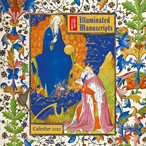 British Library Illuminated Manuscripts - Bilderhandschriften der Britischen Nationalbibliothek 2019: Original Flame Tree Publishing-Kalender [Kalender] (Wall Calendar)