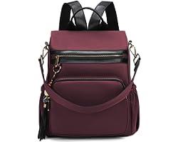 WindTook Damen Rucksack Rucksackhandtaschen Anti-Diebstahl Umhängetasche 2 in 1 als Schultertasche wasserdichte Nylon Medium