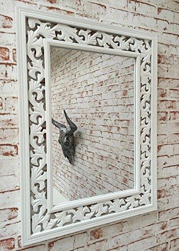 Espejo-de-pared-rstico-rectangular-80-x-60-cm-con-Marco-blancas-adornado