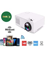 Dinshi Infinix+ (WiFi) Full HD Projector 1000 Lumen LED Projector with HDMI/VGA/USB Ports/inbuilt miracast & YouTube
