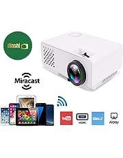 Dinshi Infinix+ (WiFi) Full HD Projector 1000 Lumen LED Projector with HDMI/VGA/USB Ports/inbuilt miracast & YouTube