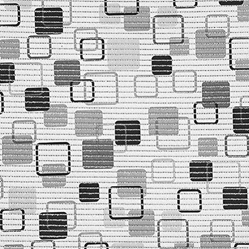 (7,49€/m) Weichschaummatte Antirutschmatte Badezimmermatte Sicherheit Badvorleger Badezimmer WC Meterware - Küche 65cm breite | Farbe : würfel viereck grau-schwarz 466-5