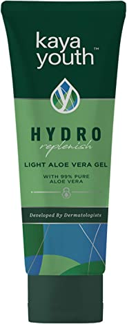 Kaya Youth Hydro Replenish, Lightweight, Non-Sticky Aloe Vera Face and Body Gel, 99% Pure Aloe Vera, 24 Hours Skin Hydration,