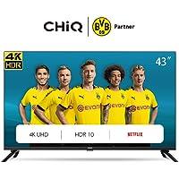 CHiQ U43H7L UHD 4K Smart TV, 43 Pouces(108cm), HDR10/hlg, WiFi, Bluetooth, Prime Video, Netflix 5,1, Youtube Kids,3 HDMI,2 USB,Frameless