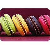 ID Mat 4060 Macarons Tapis de Cuisine Fibre Polyamide/PVC Violet 60 x 40 x 0,4 cm