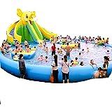 YUHAO(de) Riesiger Inflatierbarer Pool - Familien - Und Kinderinflatierbarer Rechteckiger Pool(10x15x0.8)