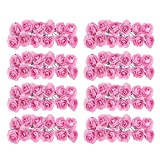 144 stk. Rose Blüten Blumen für Hochzeit - Künstliche Papier (Rosa)