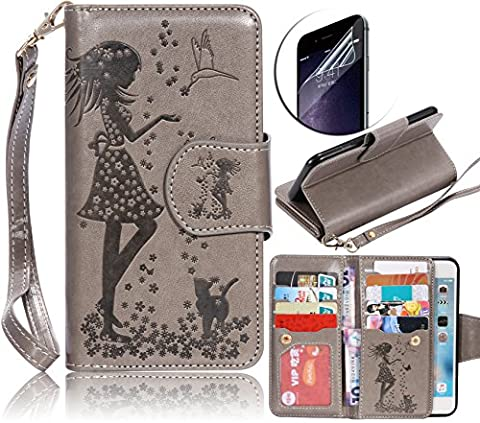 Galaxy A3 2016 H?le,Galaxy A3 2016 Lederh?le,Galaxy A3 2016 Leder Wallet Tasche Brieftasche Schutzh?le,Sunroyal Sch? Elegant Retro PU Lederh?le Flip Klapp H?le f? Samsung Galaxy A3 (2016) A310 (4.7 Zoll)