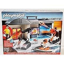 Playmobil - 5085 - Top Agents - Quartier Général Transportable