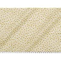 Weihnachtsstoff goldene Sterne ca 140cm Taft weiß