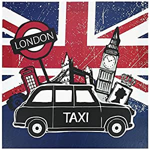bild leinwand rahmen london flagge gro britannien big ben 28 x 28 cm. Black Bedroom Furniture Sets. Home Design Ideas