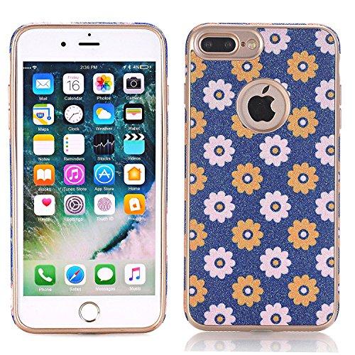 Protective Case for Apple iPhone 7, elecfan Ultra Dünn Weiche Silikon Sonnenblume Hülle Blumenmuster TPU Schutzhülle für iPhone 7 4,7 Zoll (iPhone 7, A10) A10