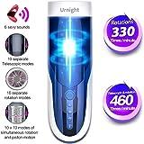 Urnight Automatischer Massagegeräte Teleskopischer Rotations 460 mal Vibrieren per Minute Sexspielzeug für Männer 10 Frequenz 10 Geschwindigkeit