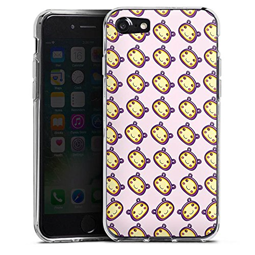 Apple iPhone X Silikon Hülle Case Schutzhülle Muster Kawaii Manga Silikon Case transparent