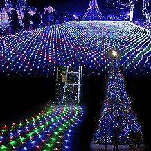 SOLMORE 3m x 3m 300 LED Lichterkette Vorhang Licht Schnur Eiszapfen Eisregen für Innen Weihnachten Party(Bunt)