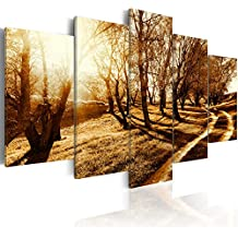 murando Cuadro en Lienzo 200x100 cm - 3 tres colores a elegir - 5 Partes - Formato Grande - Impresion en calidad fotografica - Cuadro en lienzo tejido-no tejido - arbol camina Naturaleza c-B-0029-b-p 200x100 cm