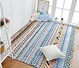 Casa semplice in cotone pieno di crepe lavabili lavabili stuoie ( Colore : 3 , dimensioni : 110*180cm )