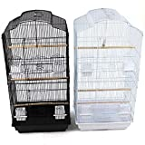 Large Metal Bird Cage for Budgie, Cockatiel, Lovebirds etc (White)