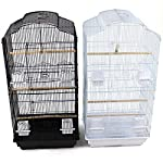 Easipet Large Metal Bird Cage for Budgie, Cockatiel, Lovebirds etc (Black) 11