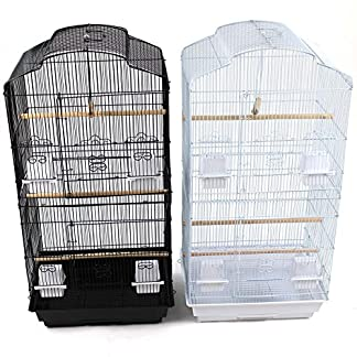 Easipet Large Metal Bird Cage for Budgie, Cockatiel, Lovebirds etc (Black) 61MK1dUb9uL