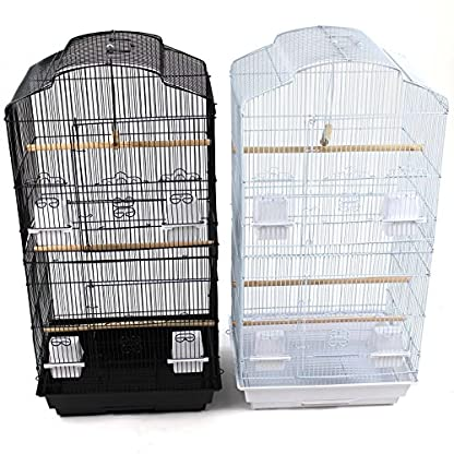 Easipet Large Metal Bird Cage for Budgie, Cockatiel, Lovebirds etc (Black) 1