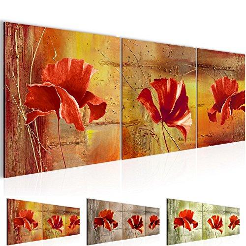 Bilder – Mohnblumen Bild – Vlies Leinwand – Kunstdrucke -Wandbild – XXL Format – mehrere Farben und Größen im Shop – Fertig Aufgespannt !!! 100% MADE IN GERMANY !!! – Blumen Abstrakt 201134P