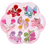7Pair Lovely Acrylic Earring Clip-On NoPierced Designs For Children Girl Gift DP