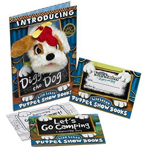 Tote Diggity The Dog Puppet Show Book by Lisa LeLeu Studios - Diggity Dog Toy