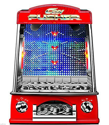 UKayed ® Coin Penny Pusher Falls Novelty Fairground Coin Cashcade Arcade Amusements Game Replica Family Children