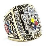 HTEGAE Pittsburgh Steelers Männer Meisterschaft Ringe des Jahres 2005,Größe 67 (21.3)