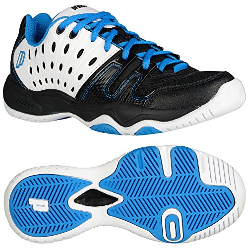 Prince T22 Junior Tennis Shoes Blue/Black/White