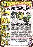 metal Signs 1949Dick Tracy Handgelenk Radio Vintage Look Reproduktion Metall blechschild 17,8x 25,4cm