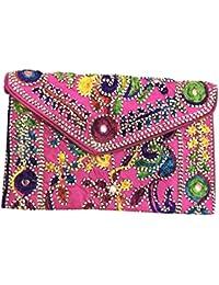 Shubhangi Women's STYLISH Sling Bag (Jaipuri Embroidered Handicraft Traditional Sling Bags,GIRLS BAG,GUJRATI EMBROIDERY... - B0781WF6Q5
