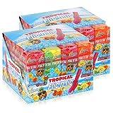 Flic'n'lic Lutscher Tropical 24 Stück 336g - Doppelter Fruchtgeschmack (2er Pack)