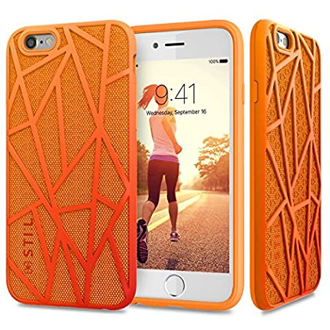 Coque iPhone 6 Coque iPhone 6s | JAMMYLIZARD | Coque de protection cover original sport 2 en 1 couleur vribrante Coque iPhone 6 6s, Orange et