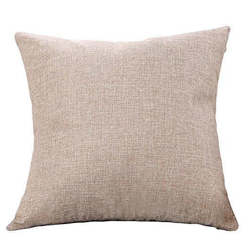 YEARNLY Kissenbezüge Baumwolle Leinen Platz Dekorative kissenhüllen mit verdecktem Reißverschluss Setzen Sofa Kissenbezug Wohnzimmer Zierkissenbezüge
