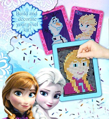 Brigamo FR15336 - Disney Frozen Die Eiskönigin Moosgummi Pixel Steckspiel Bastelset mit Steckplatte und Vorlagen aus dem Film thumbnail
