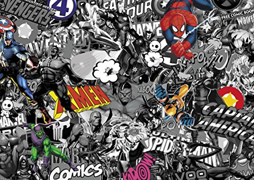 Voodoo MARVEL Stickerbomb Voodoo2m x 600 Aufkleber, 2M X 600MM, black/ white with colour, Stück: 1