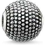 Thomas Sabo Femmes Hommes-Bead Katmandou Karma Beads Argent Sterling 925 noirci K0008-001-12