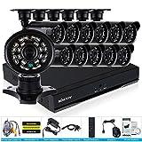 KKmoon 16canaux Enregistreur 960H D1DVR 12pcs 800TVL IR Caméras de sécurité étanche système de CCTV kit de surveillance