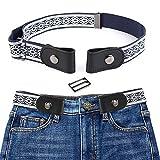 Volwco Cintura Senza Fibbia per Uomo Donna, Cintura Invisibile Elastica per Jeans, Vestiti